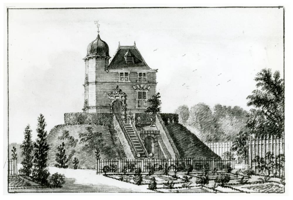 Kasteel Oud Wulven in Houten. Tekening Jan de Beijer, 1749